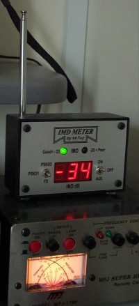 PSK IMD meter showing the transmitted IMD from my Elecraft K3