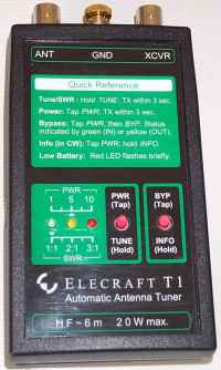 The Elecraft T1 completed (click to enlarge)