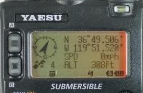 Yaesu VX-8R APRS display